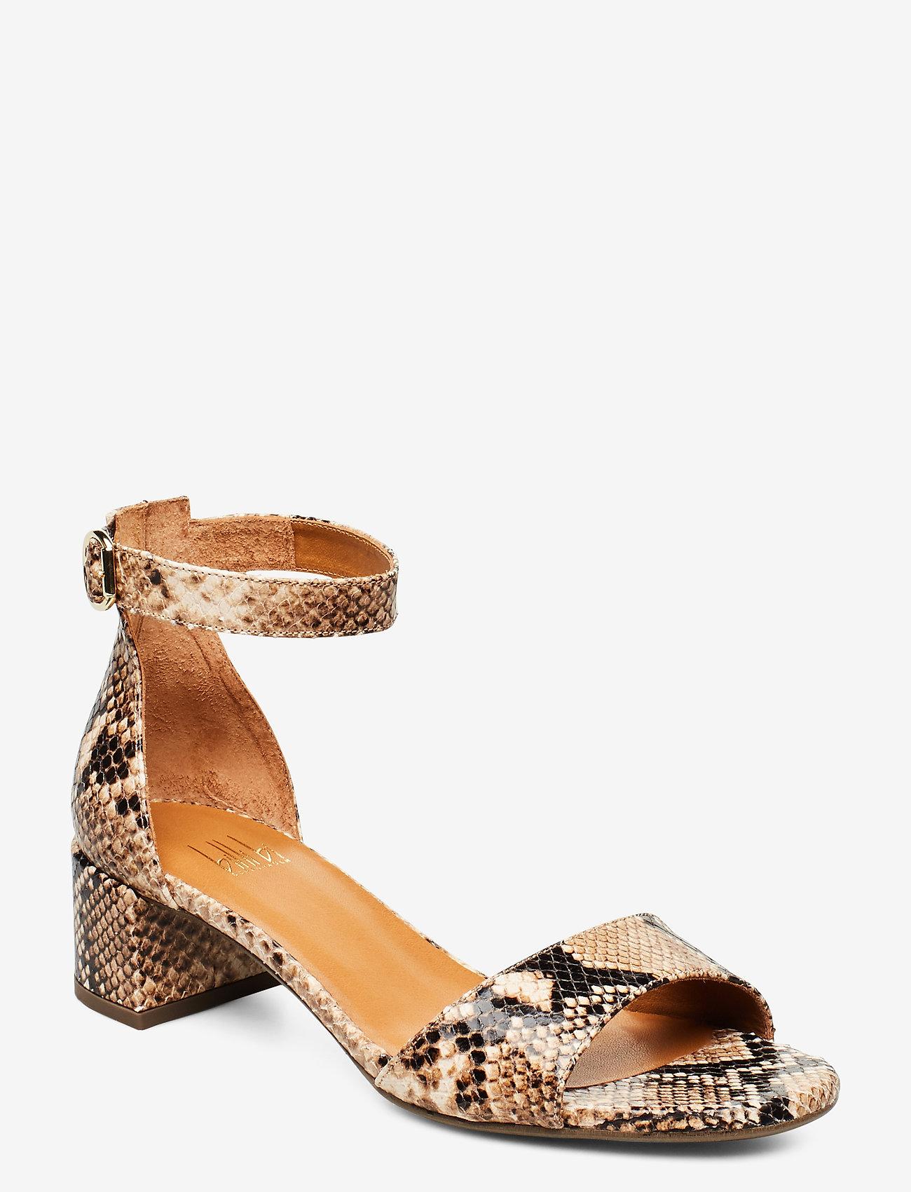 Billi Bi - Sandals 4607 - høyhælte sandaler - beige 6071 snake 34 p - 0