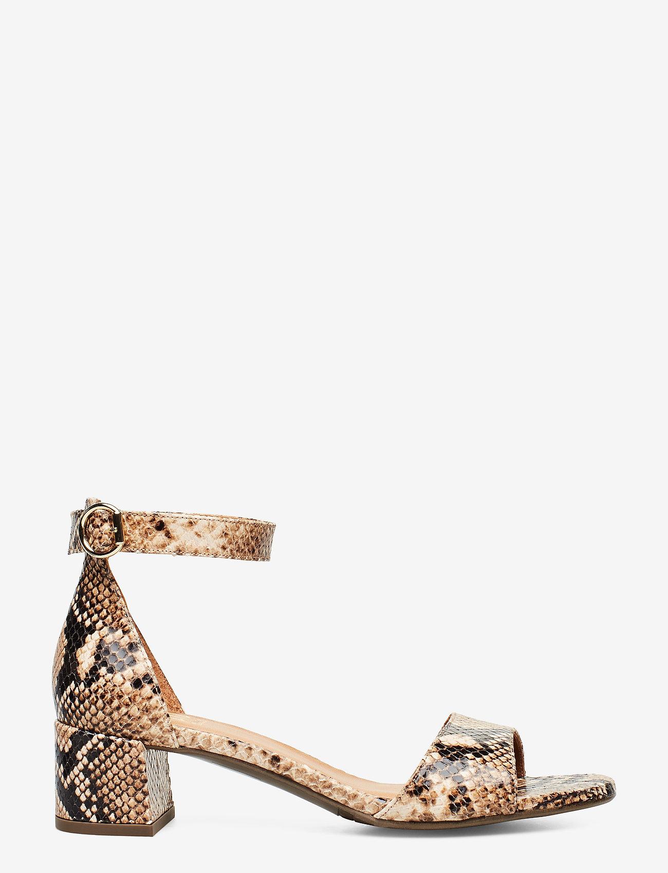Billi Bi - Sandals 4607 - høyhælte sandaler - beige 6071 snake 34 p - 1