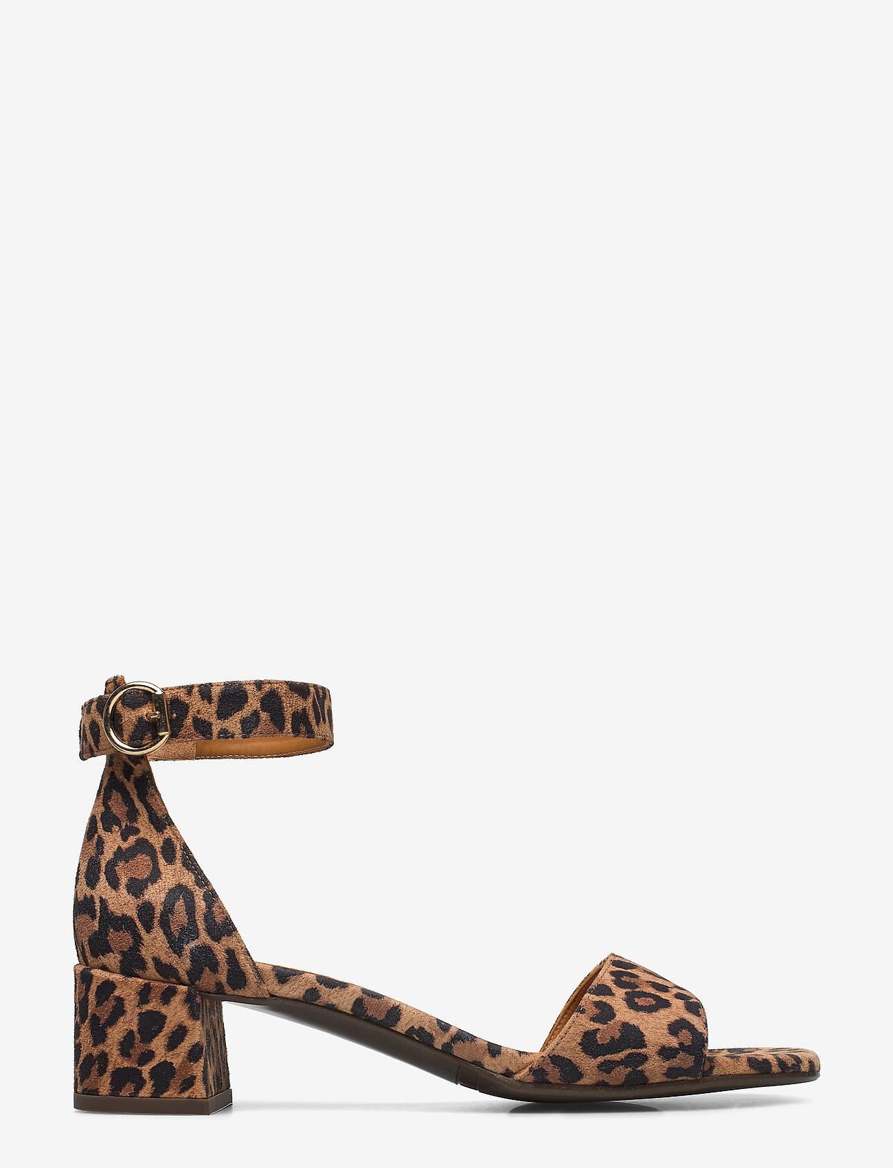 Billi Bi - Sandals 4607 - sandały na obcasie - leopardo suede 542