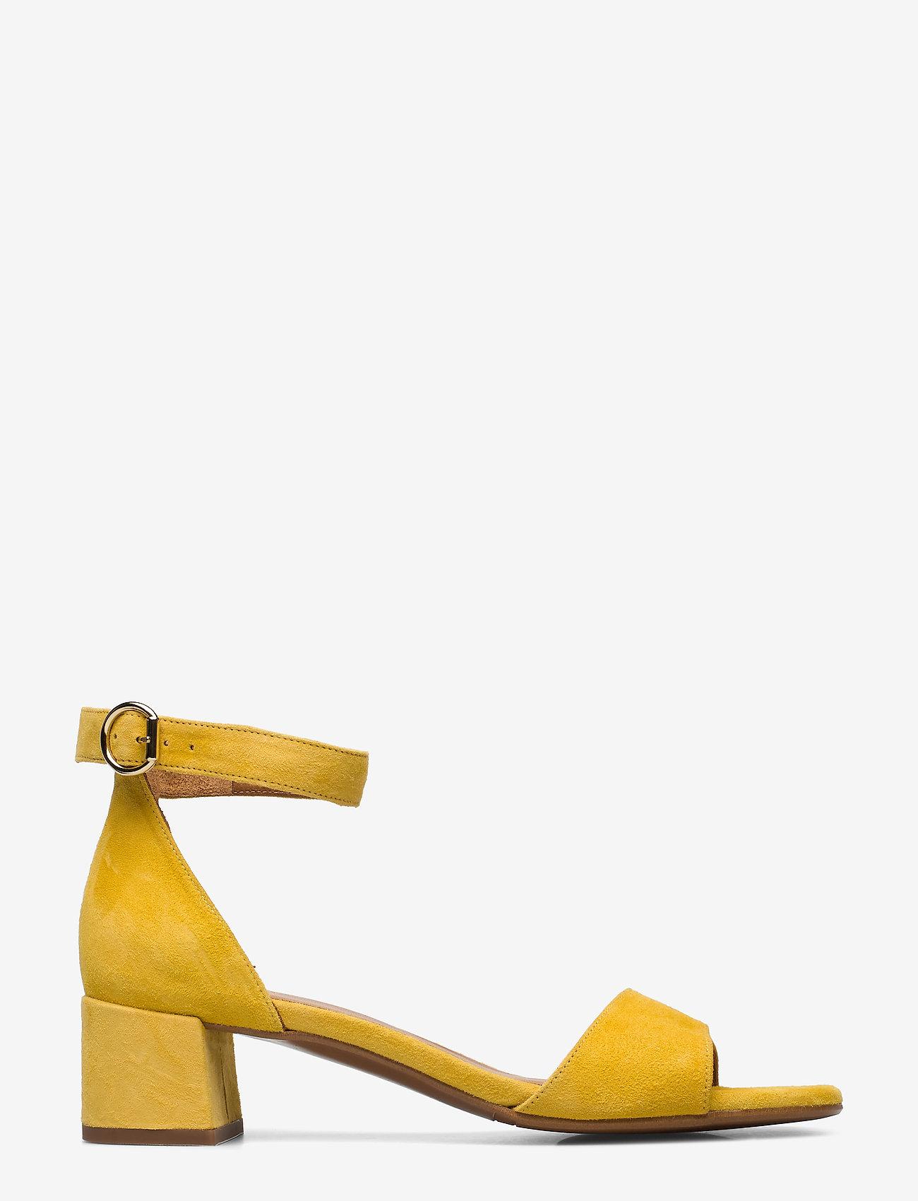 Billi Bi - Sandals 4607 - høyhælte sandaler - yellow 1795 suede 56