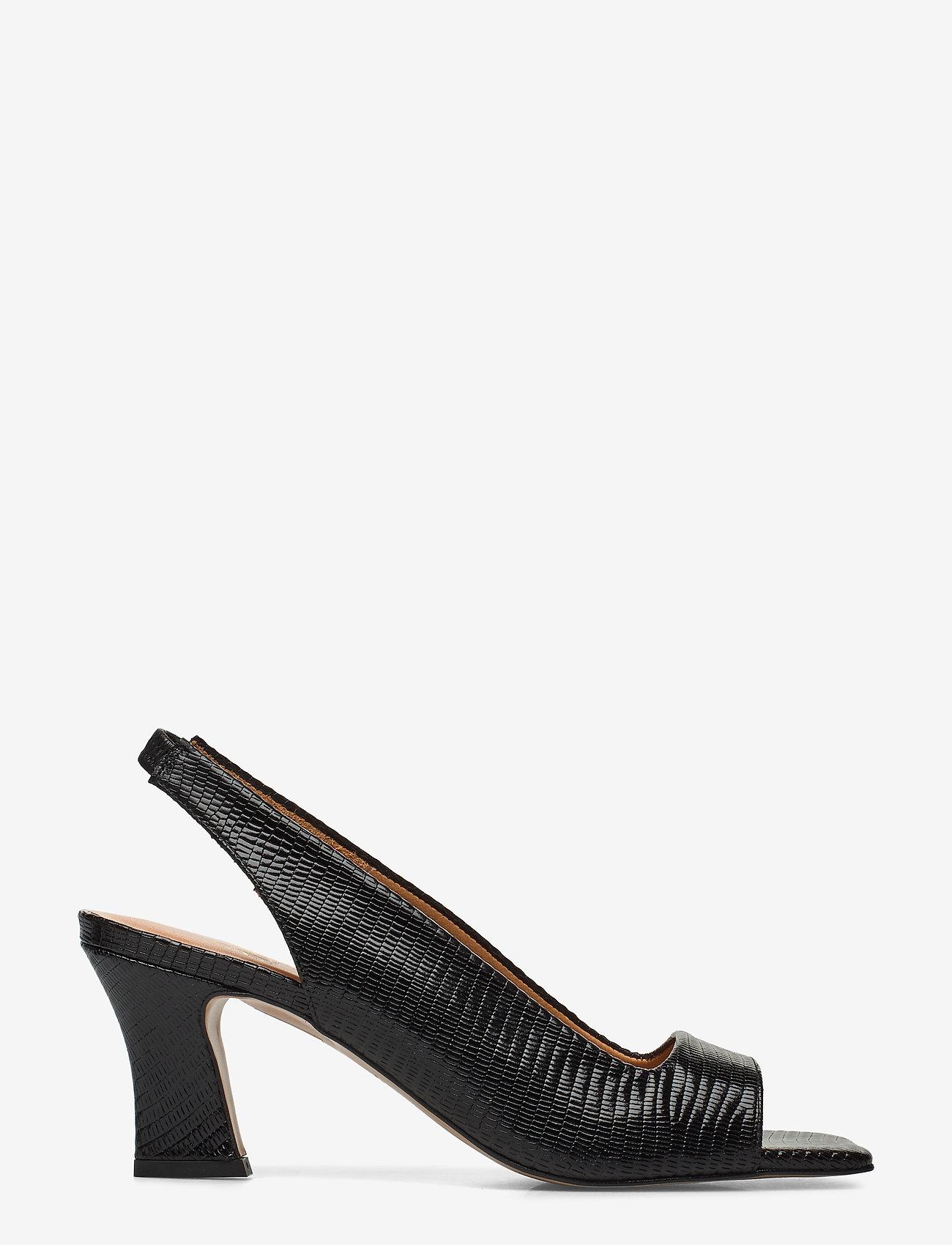 Billi Bi - Sandals 4636 - peeptoes - black lizard 300 - 1