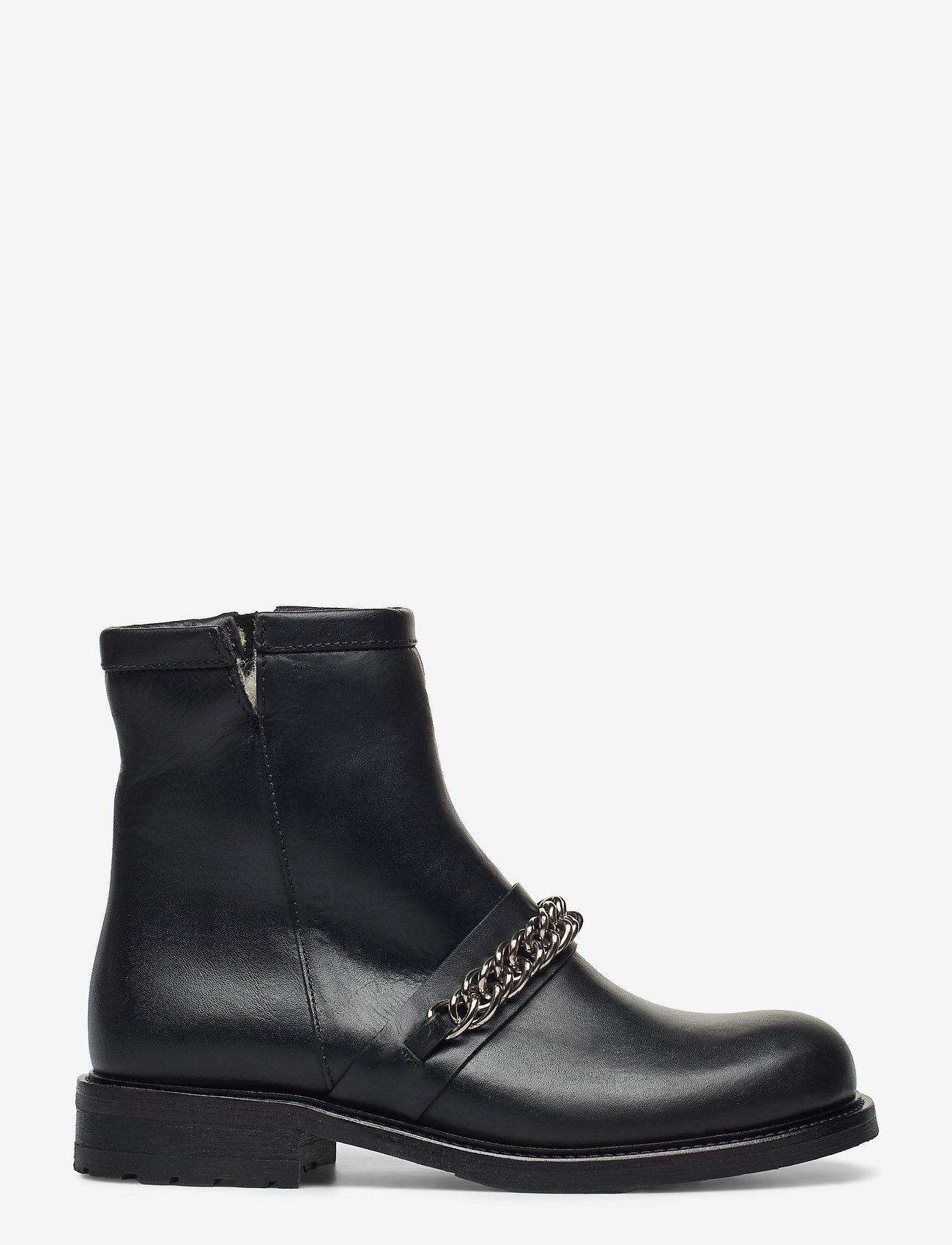 Billi Bi - Boots 4799 - flat ankle boots - black tomcat/silver 803 - 1
