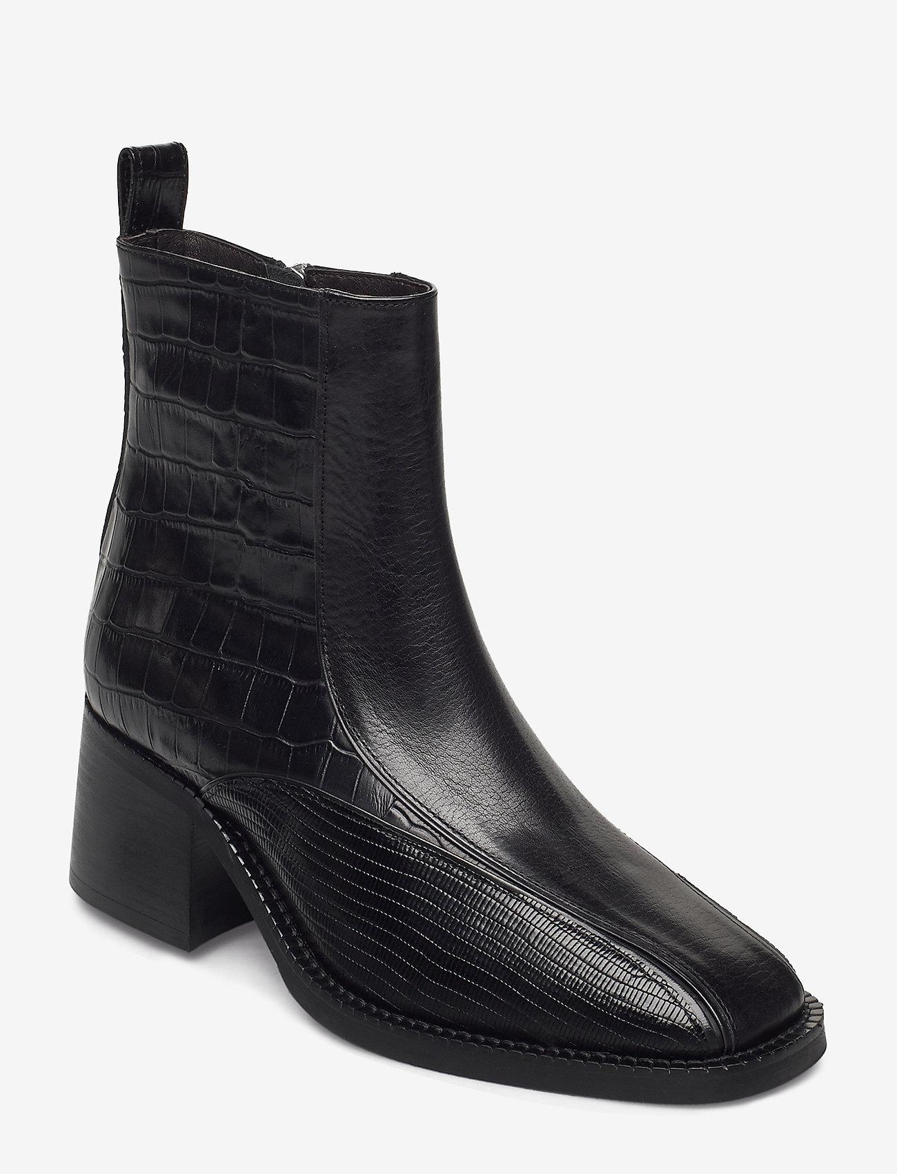 Billi Bi - Boots 4813 - enkellaarsjes met hak - black comb. 830 x - 0