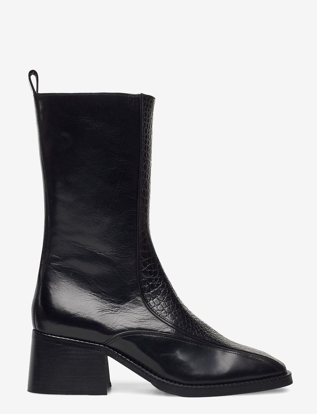 Billi Bi - Boots 4814 - enkellaarsjes met hak - black yango comb. 190 y - 1