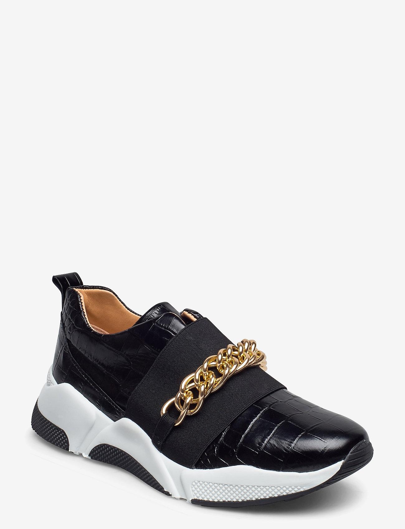 Billi Bi - Sport 4862 - sneakers med lav ankel - black luisiana croco/gold 102 - 0