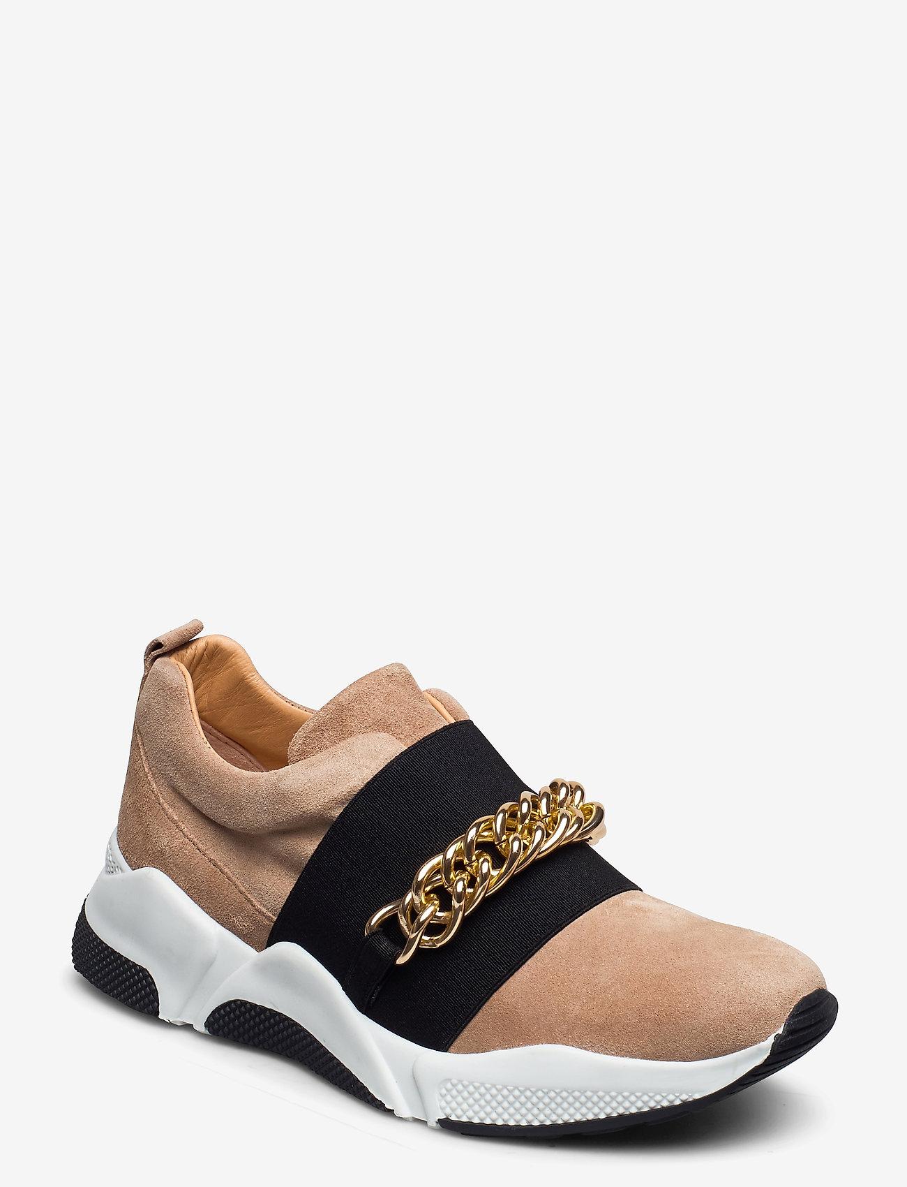 Billi Bi - Sport 4862 - sneakers med lav ankel - camel sue./gold 552 - 0