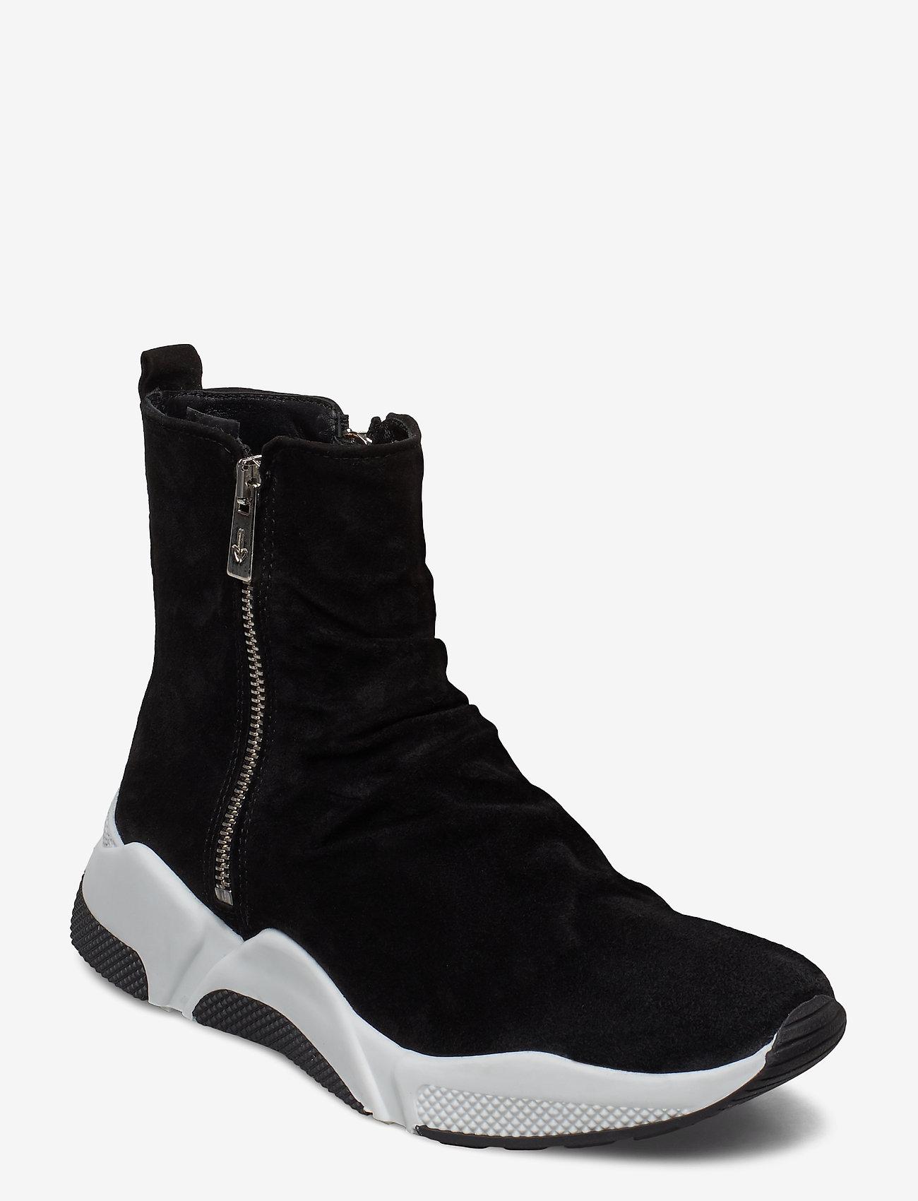 Billi Bi - Sport 4865 - sneakers med høy ankel - black babysilk suede 500 - 0