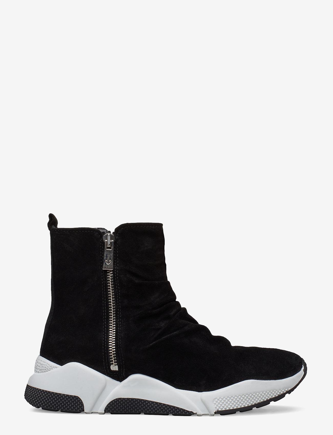 Billi Bi - Sport 4865 - sneakers med høy ankel - black babysilk suede 500 - 1