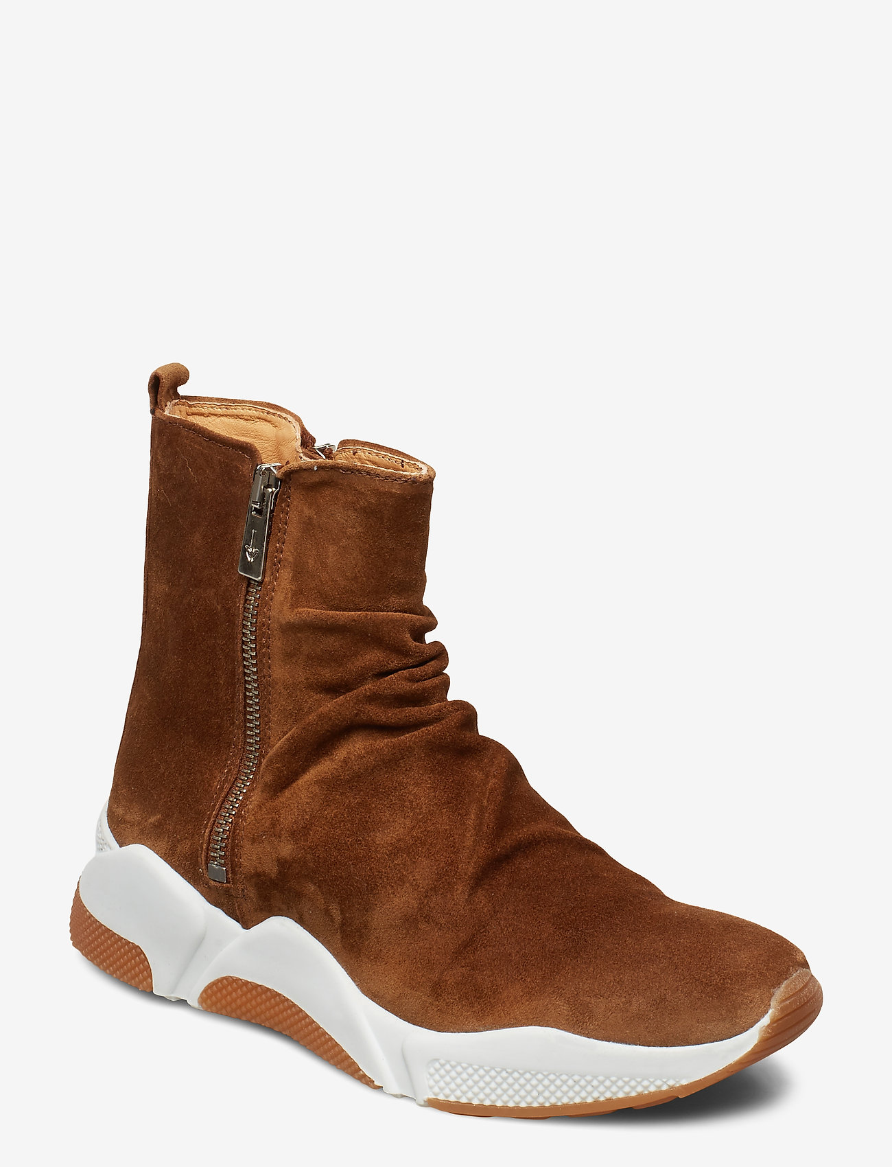 Billi Bi - Sport 4865 - sneakers med høy ankel - tabac babysilk suede 555 - 0