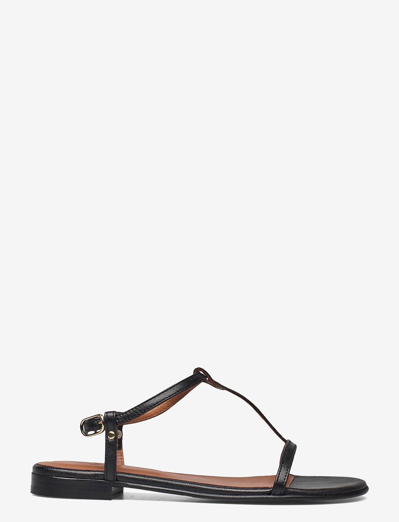 Billi Bi - SANDALS - zempapēžu sandales - black metal nappa 700 - 1