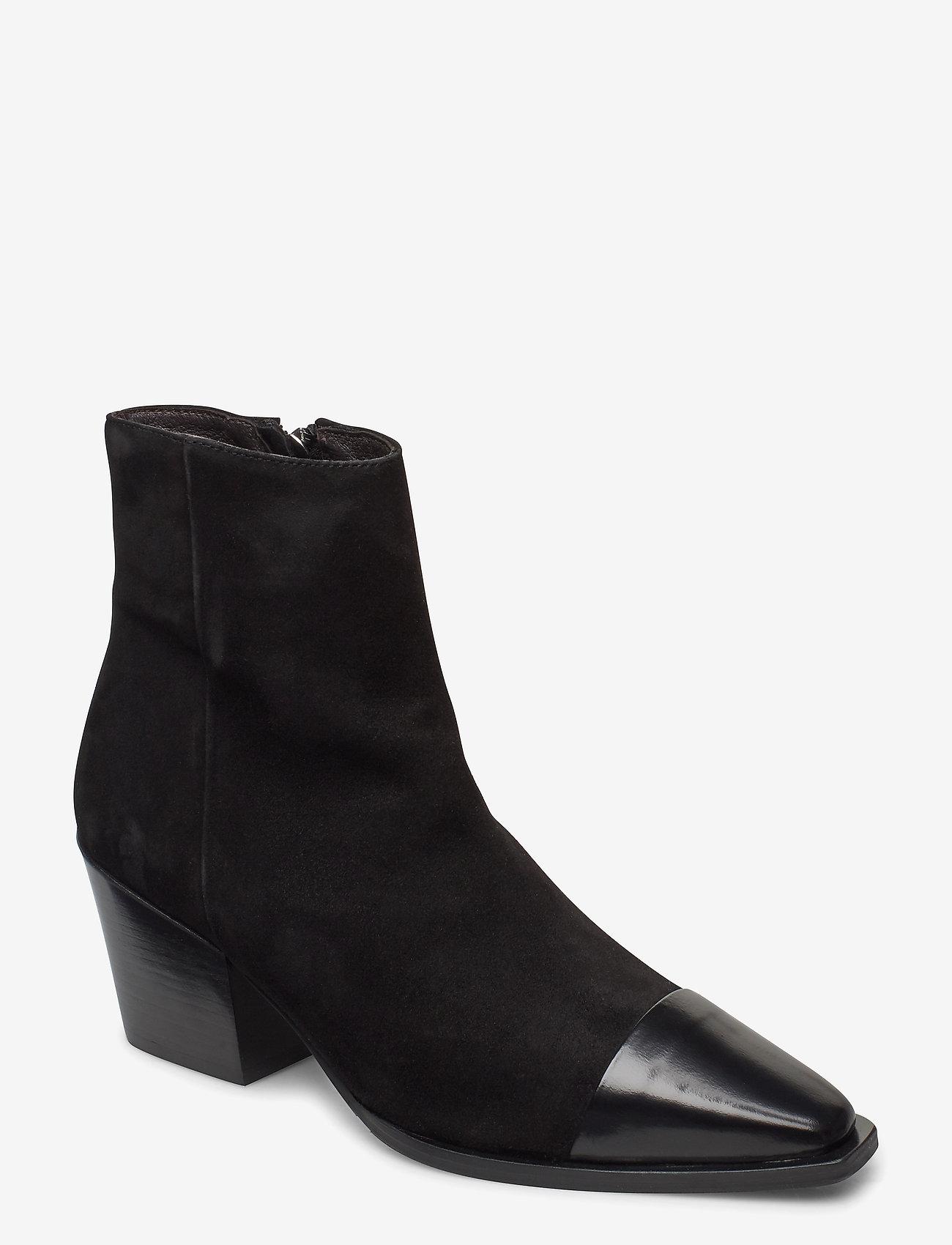 Billi Bi - Boots 4932 - enkellaarsjes met hak - black polido/black suede 950 - 0