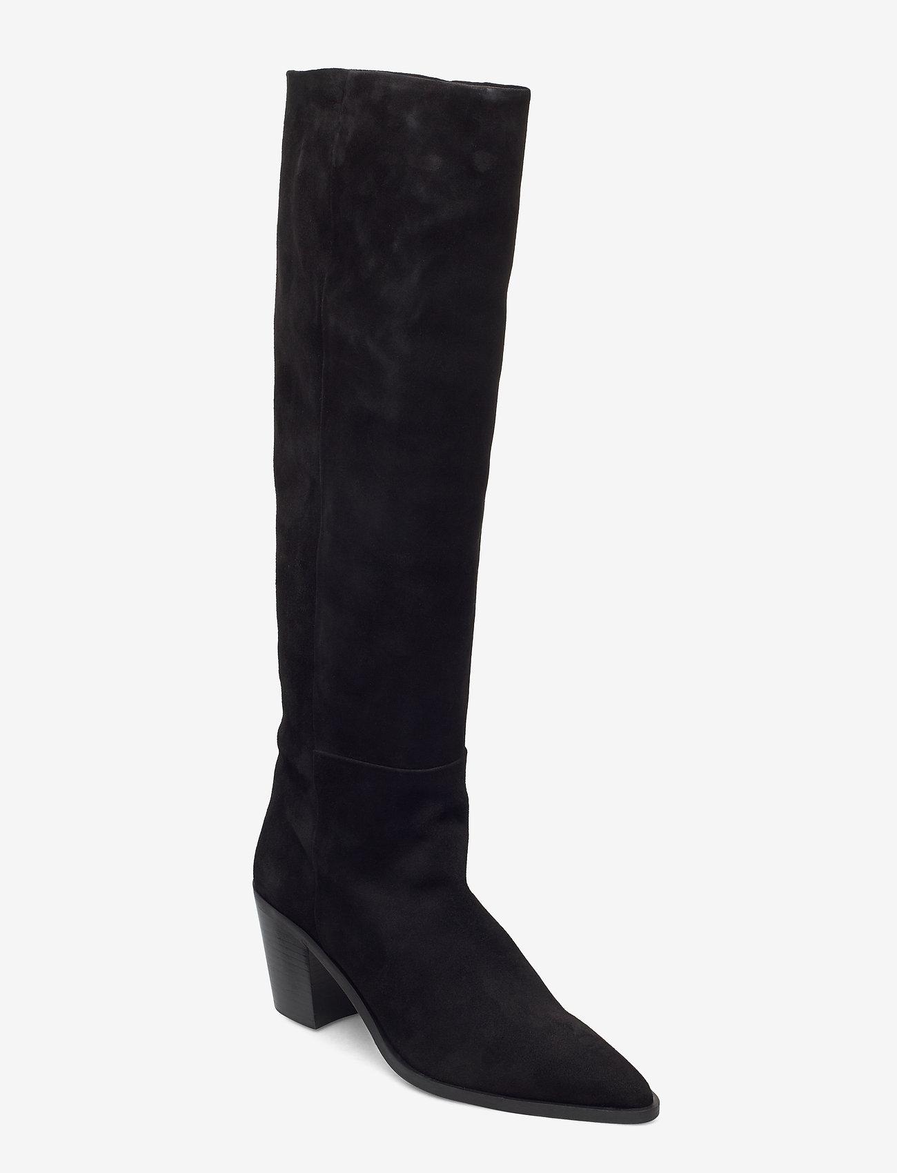 Billi Bi - Boots 4945 - lange laarzen - black suede 50 - 0