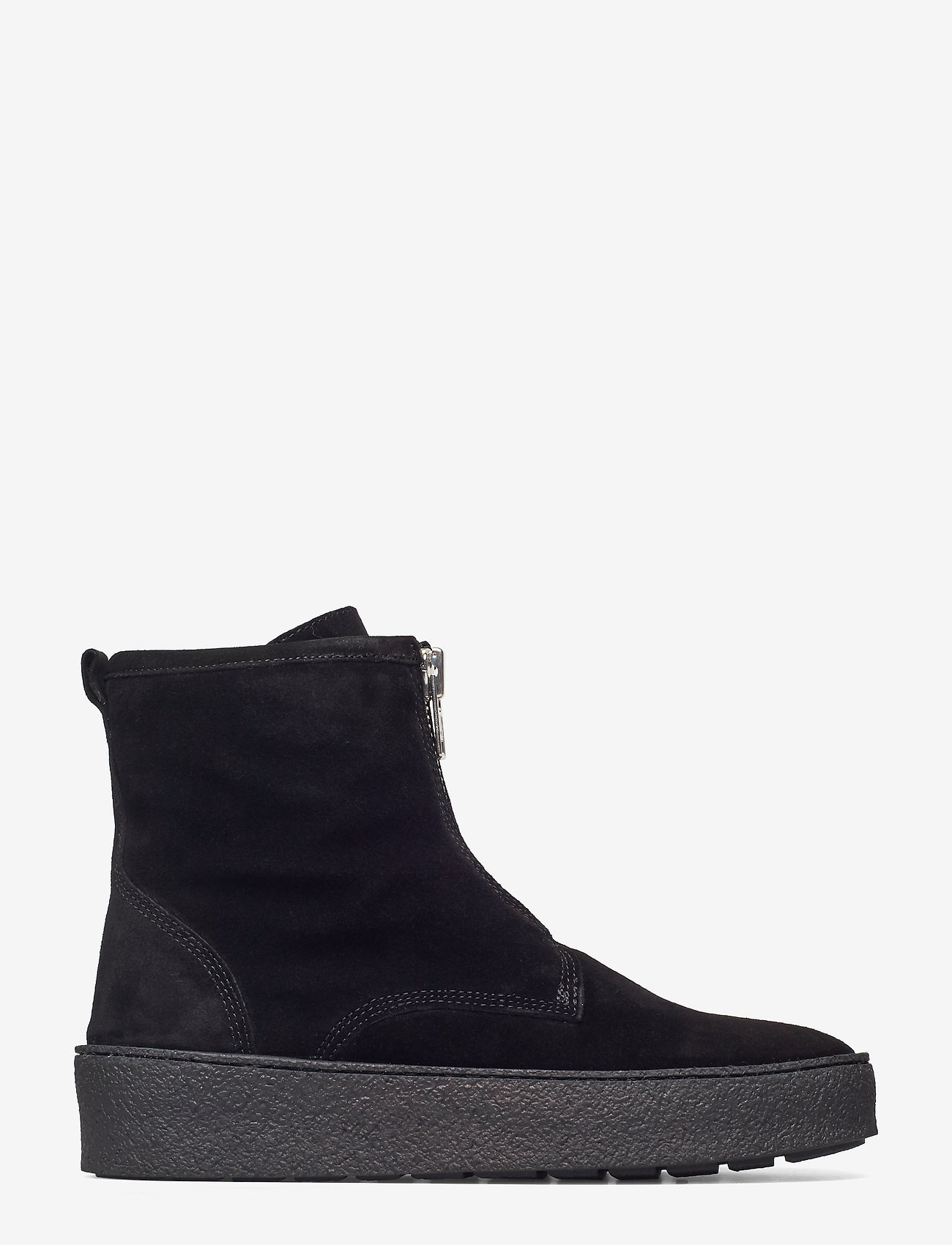 Billi Bi - SHOES - flate ankelstøvletter - black sue/silver/bl sole 503 - 1