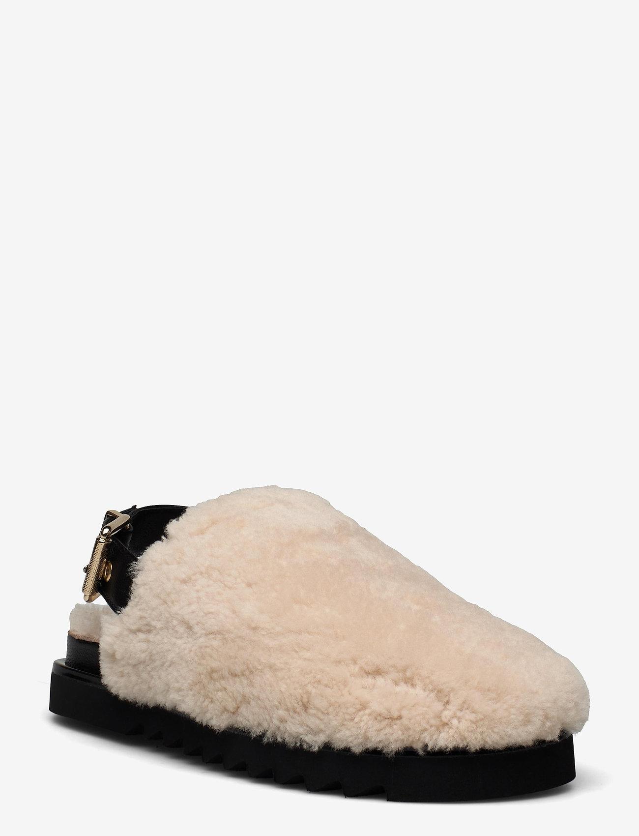 Billi Bi - Slipper  6070 - mules & slipins - beige lamb/black sole 933 - 1