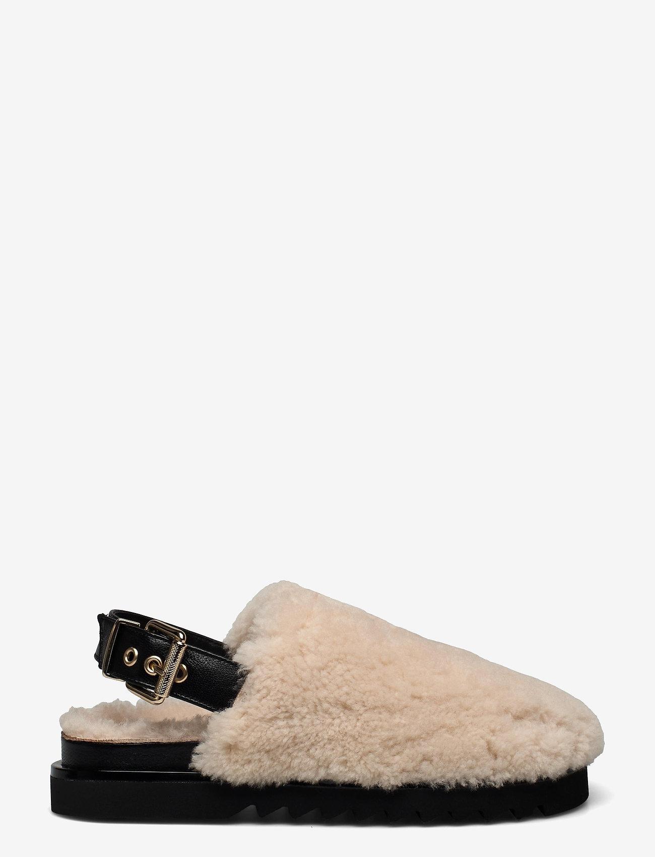 Billi Bi - Slipper  6070 - mules & slipins - beige lamb/black sole 933 - 0