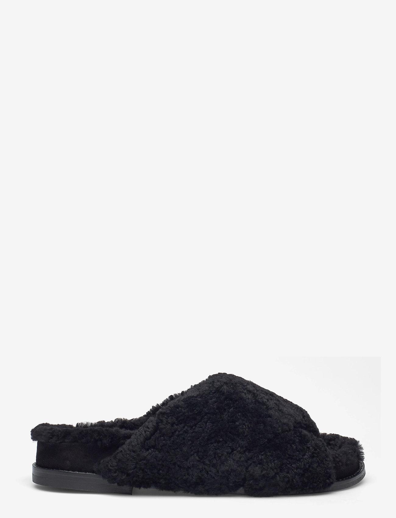 Billi Bi - Slipper  6075 - flache sandalen - black lamb 930 - 1