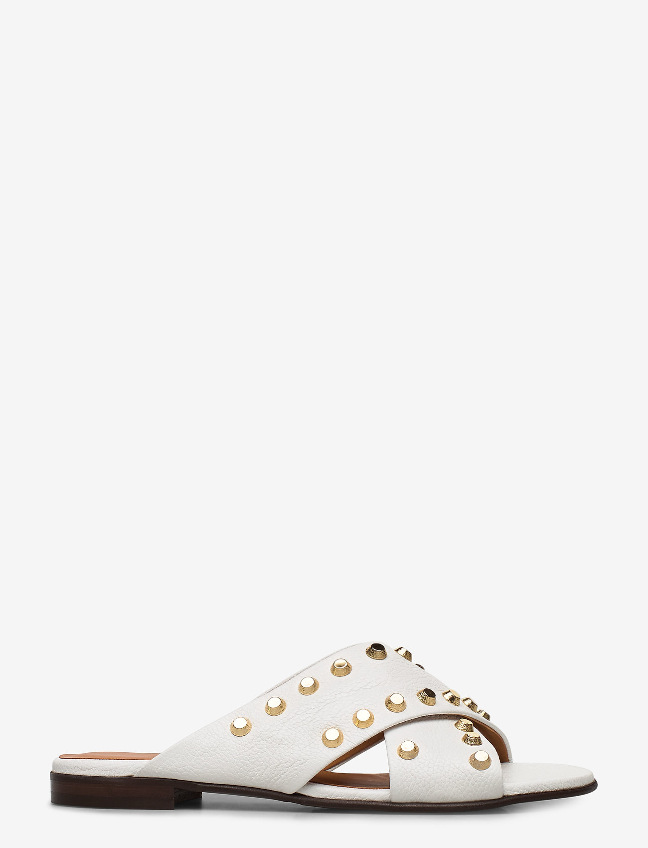 Billi Bi - SANDALS - płaskie sandały - white buffalo/gold 832 - 1