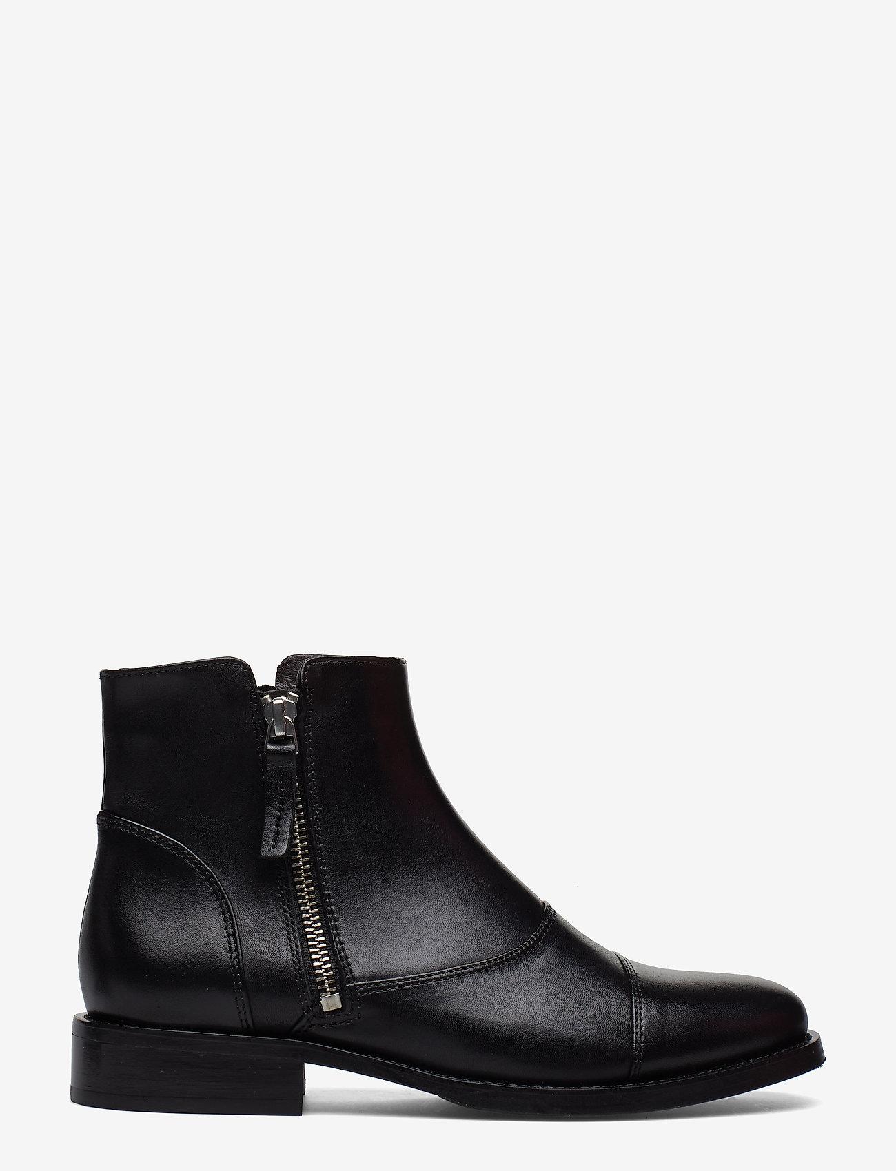 Billi Bi - BOOTS - flate ankelstøvletter - black calf/silver 603 - 1