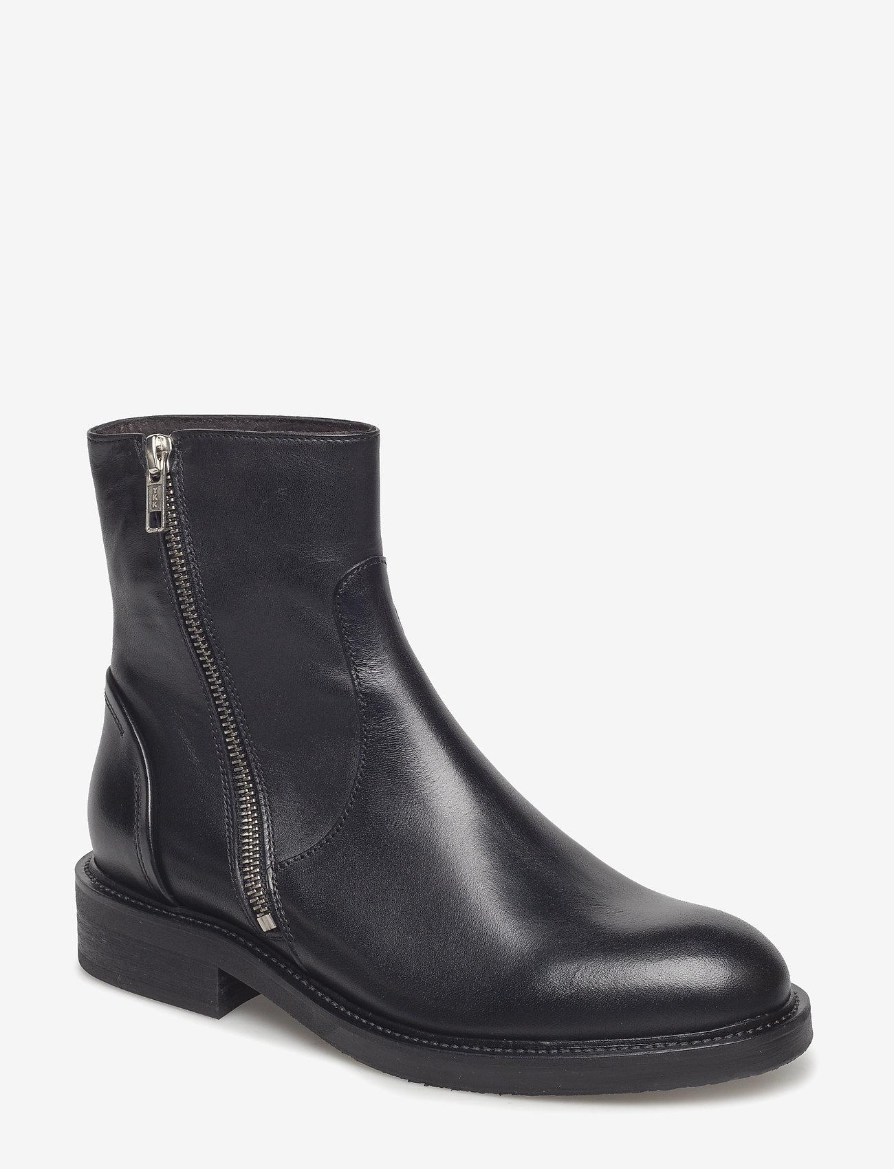 Billi Bi - Boots 813102 - platte enkellaarsjes - black calf 80 - 0