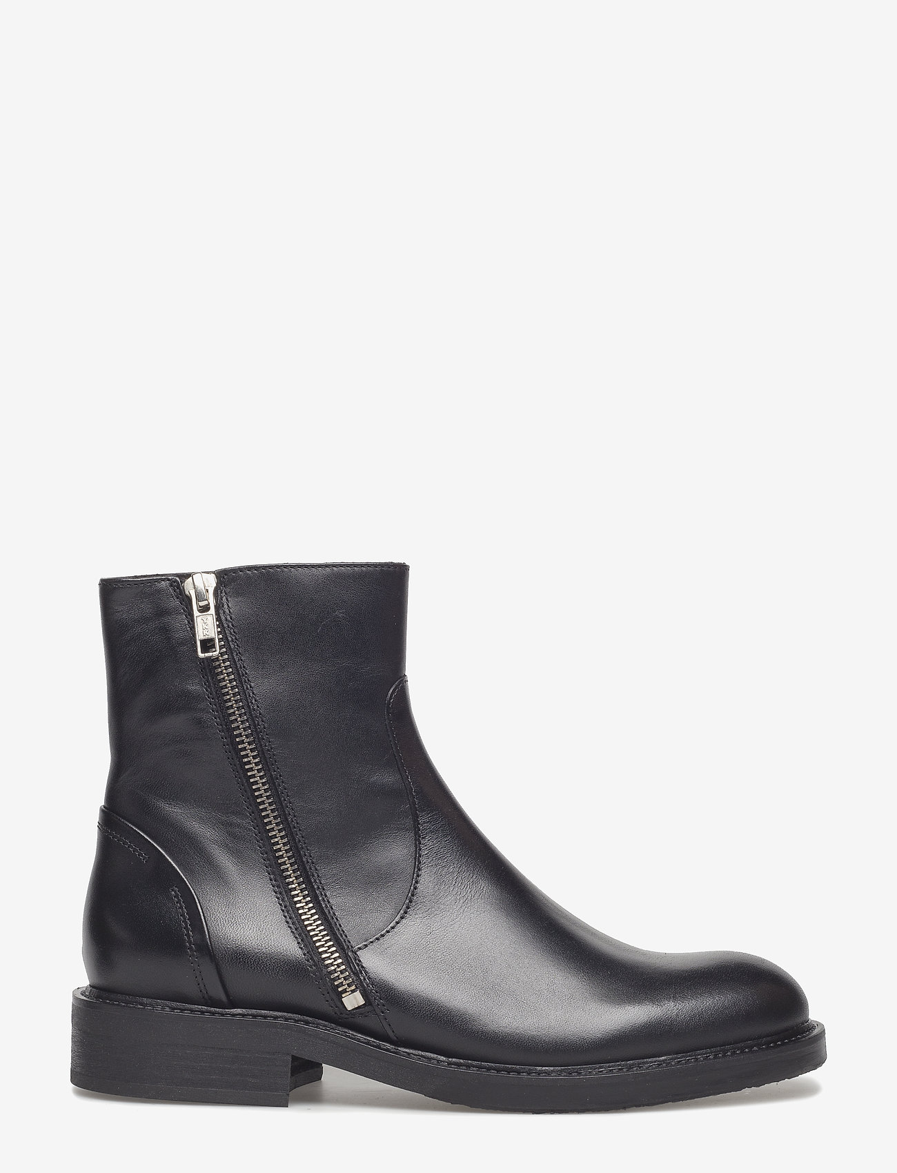Billi Bi - Boots 813102 - platte enkellaarsjes - black calf 80 - 1