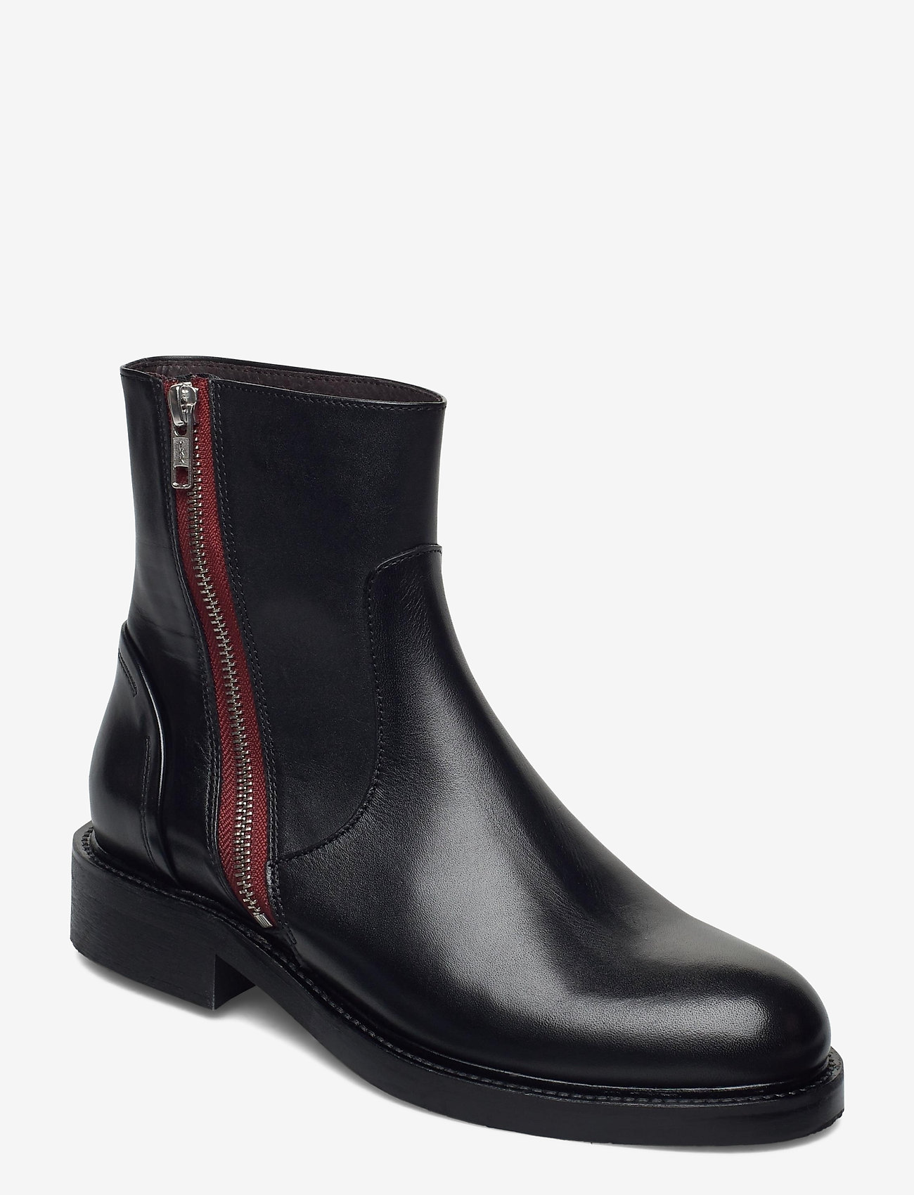 Billi Bi - Boots 83450 - chelsea boots - black calf /red zip 80 - 0