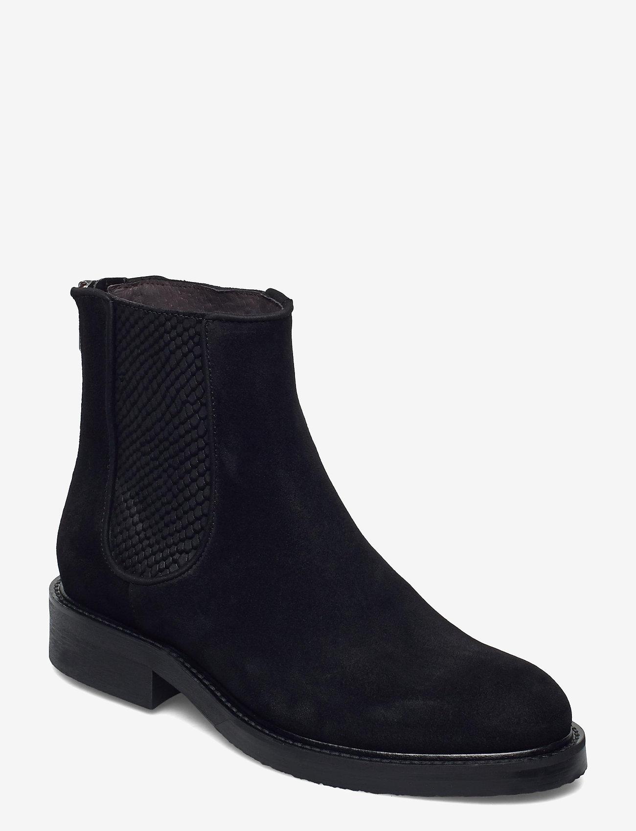 Billi Bi - Boots 83451 - chelsea boots - black suede/red zip 509 - 0
