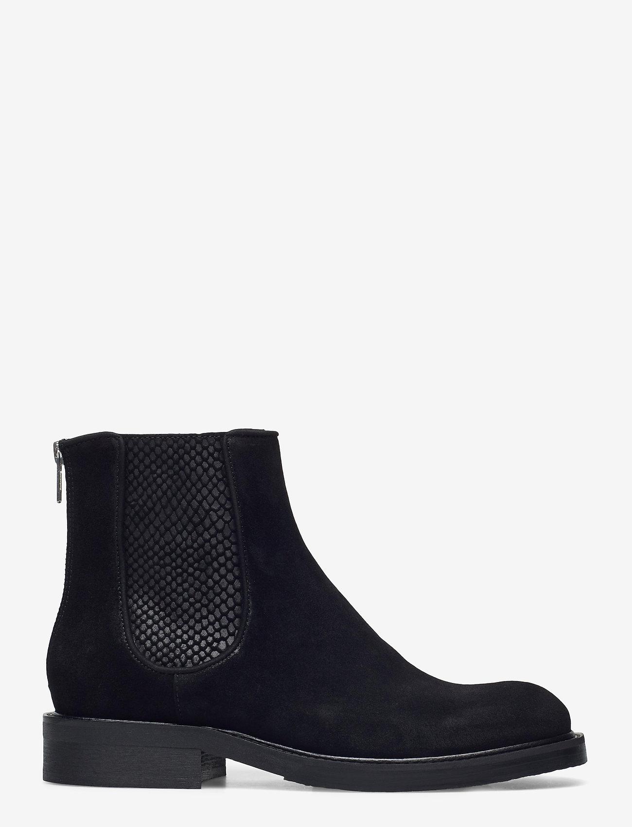 Billi Bi - Boots 83451 - chelsea boots - black suede/red zip 509 - 1