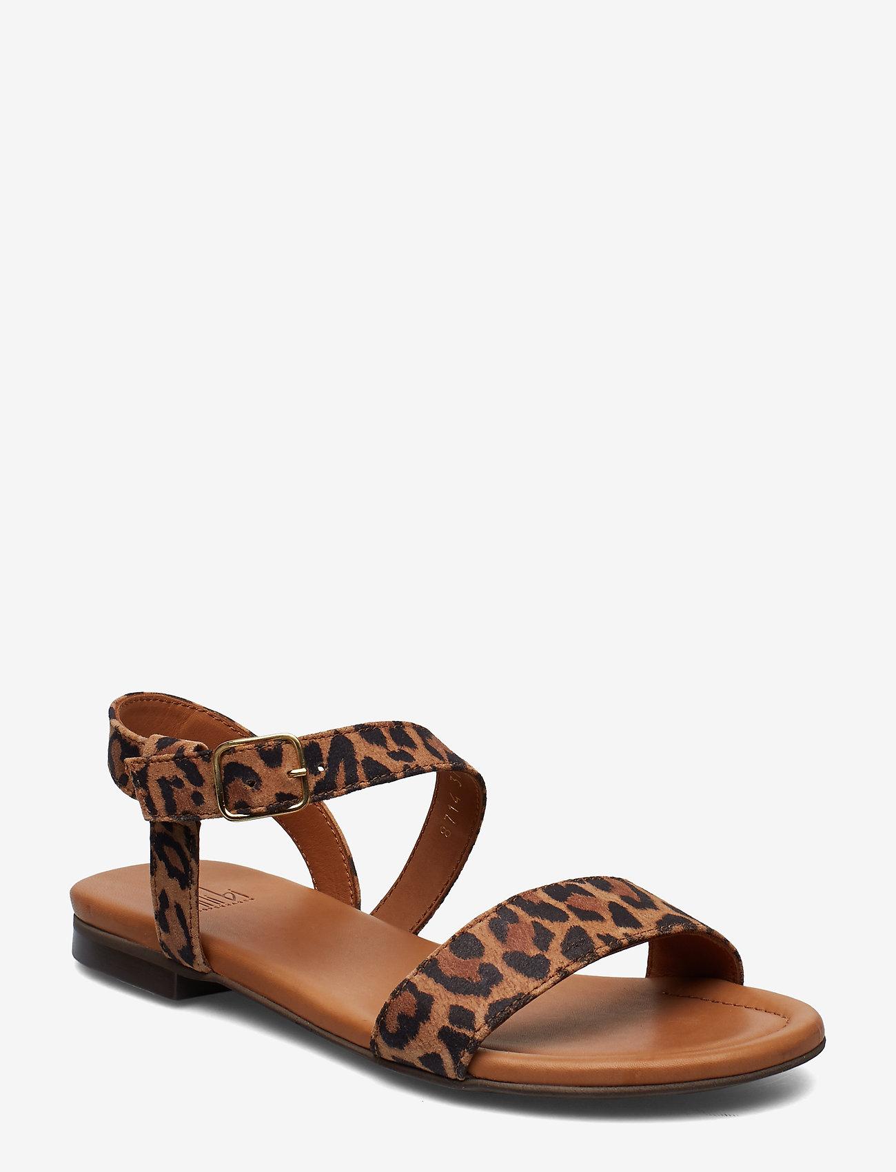 Billi Bi - Sandals 8714 - flate sandaler - leopardo suede 542