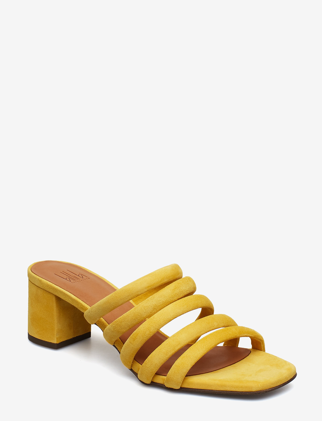 Billi Bi - SANDALS 8723 - heeled sandals - yellow 1795 suede 55 - 0