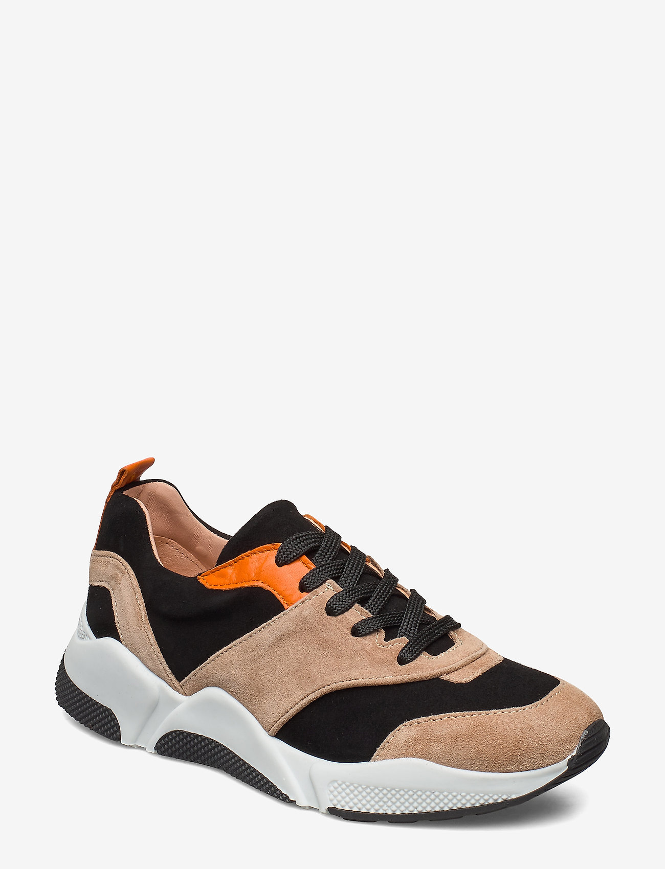 Billi Bi - Sport 8840 - chunky sneakers - beige/black/orange suede 572 - 0