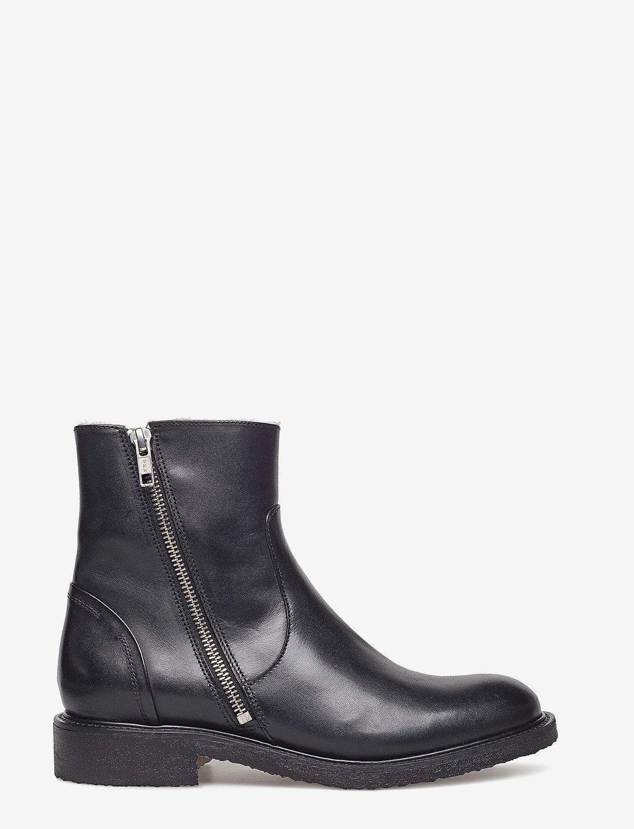 Billi Bi - Boots 913102 - flat ankle boots - black calf 80 - 0