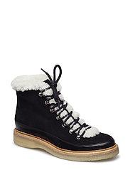 BOOTS - BLACK CALF/BLACK SUEDE 650