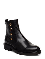 Boots 3526 - BLACK BABY BUFFALO/GOLD 602