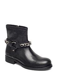 Boots 3570 - BLACK CALF/SILVER 803
