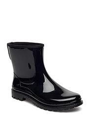 RAIN BOOTS - BLACK SHINY 40