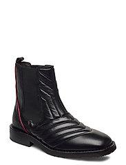 Boots 4843 - BLACK NAPPA/RED STRIPE 70