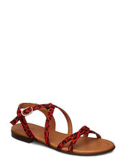 SANDALS - RED LEO LIPS SUEDE 548 H
