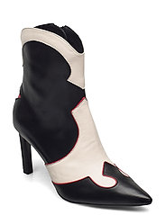 Booties - BLACK/RED/WHITE COMB. 893