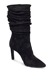 Booties 5233 - BLACK BABYSILK SUEDE 500