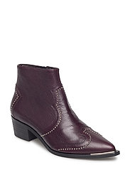 SHOES - BORDO BUFFALO/SILVER 88