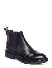 BOOTS - BL.POLIDO/BL.CALF/CURRY SNAKE