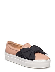 SHOES - NUDE BUFFALO/BLACK SATIN 88