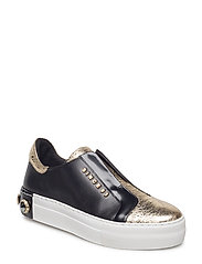 SHOES - GOLD METAL/BLACK 220