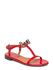 SANDALS - RED 1447 PATENT 259