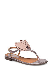 SANDALS - ROSE METALLIC/NUDE SUEDE 589