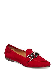 SHOES - RED SUEDE/SILVER 59