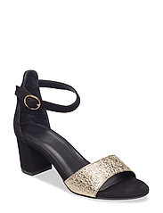 SANDALS - BLACK SUEDE/MET. 083