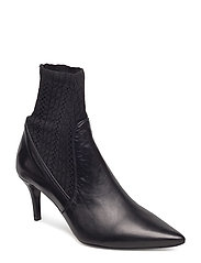 BOOTS - BLACK CALF/STRETCH 60