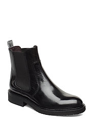 BOOTS - BLACK CALF/SILVER STRIPE 803