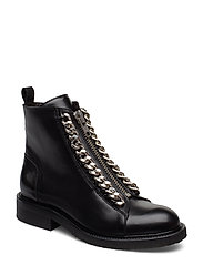 Boots 7428 - BLACK CALF/SILVER 603